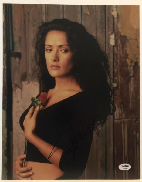 SALMA HAYEK  SIGNED 11X14 PHOTO FRIDA SPY KIDS DESPERADO PSA DNA