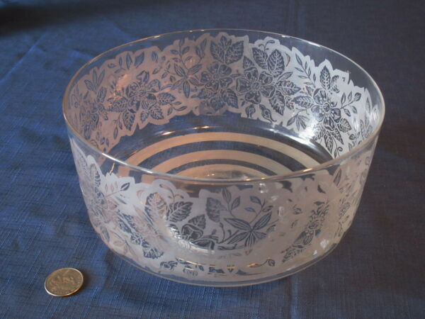 Rare Victorian Etched Glass Leaf amp; Floral Gas Light Fixture Shade 1885 $24.00