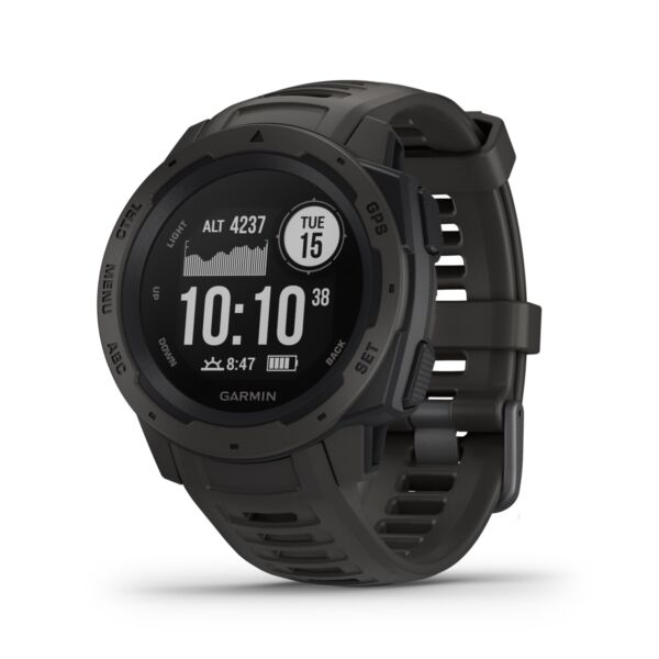 Garmin Instinct Rugged GPS Smart Watch - Graphite 010-02064-00