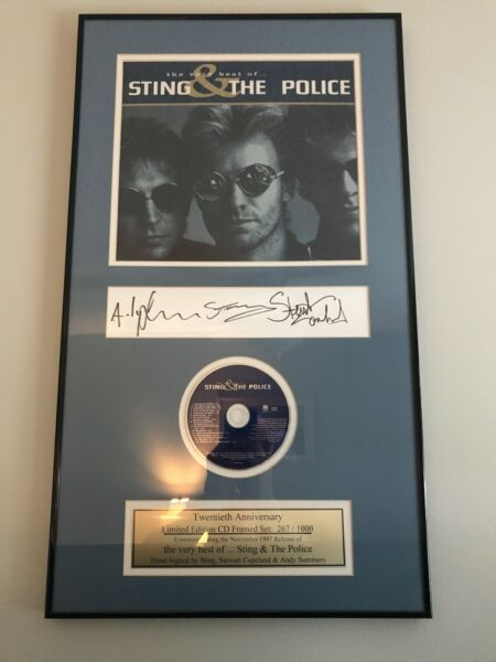 Sting And The Police Twentieth Anniversary Limited Edition CD Framed Set