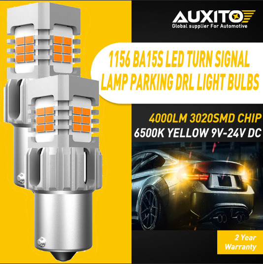 AUXITO Amber 1156 7506 LED Rear Turn Signal Lights for Hyundai Elantra 2000-2019
