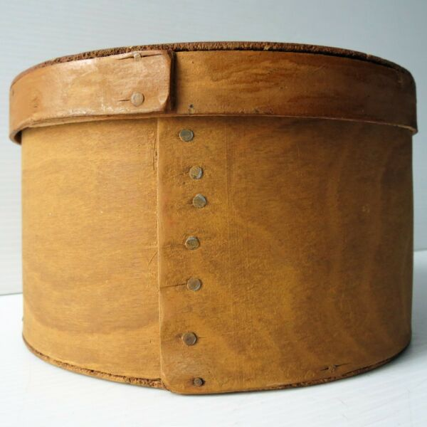Round WOOD PANTRY BOX with Cover 7 1 2quot; Dia.