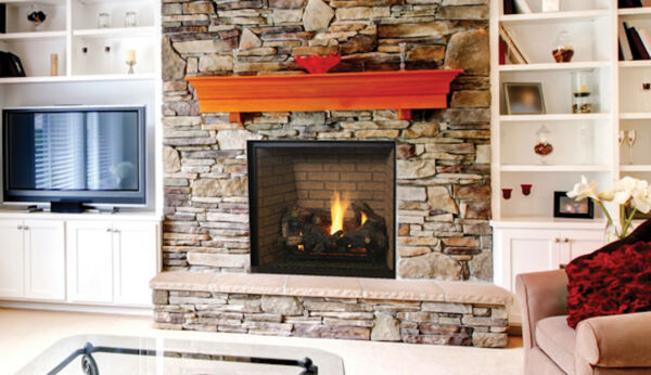 Superior DRT6340 Clean-Face Design Direct Vent Gas Fireplace w Glowing Embers
