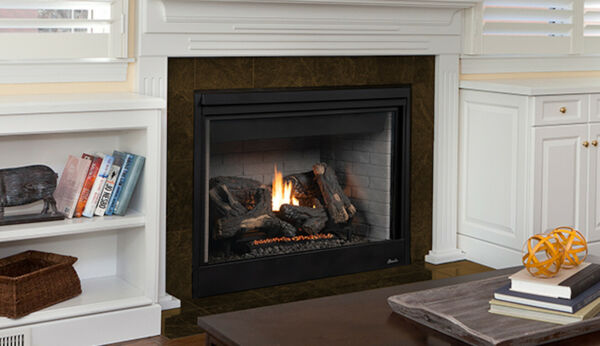 Superior DRT4045 Direct Vent Gas Fireplace w Millivolt System & Black Interior