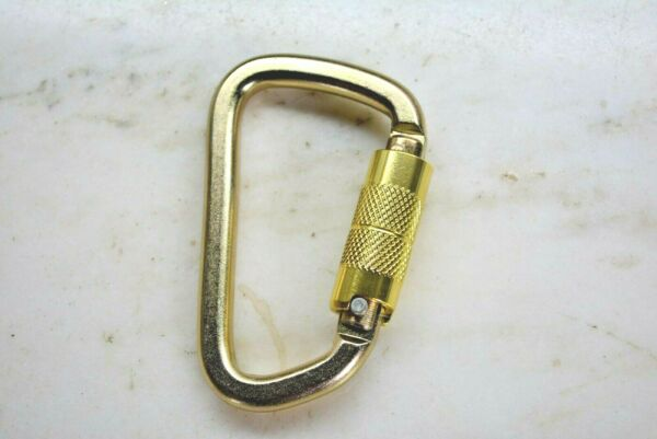 Carabiner SOLID Steel solid heat treated steel 6500 lb AUTO LOCKING. NEW $5.55