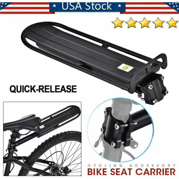 Universal Back Rear Bicycle Rack Aluminum Bike Cycling Cargo Luggage Carrier USA $20.68