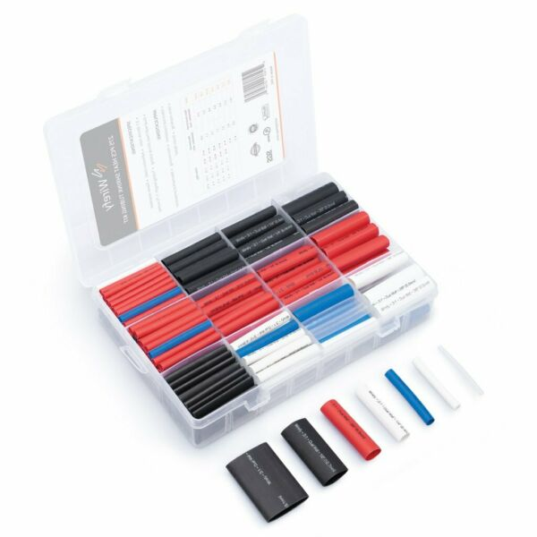 Wirefy 275 PCS Heat Shrink Tubing Kit 3:1 Dual Wall Tube w Adhesive 5 Colors $14.99