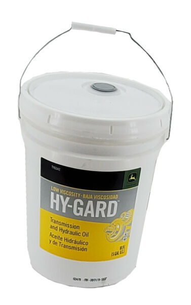 John Deere Low Viscosity Hy Gard Transmission and Hydraulic Oil 5 Gallon Buck...