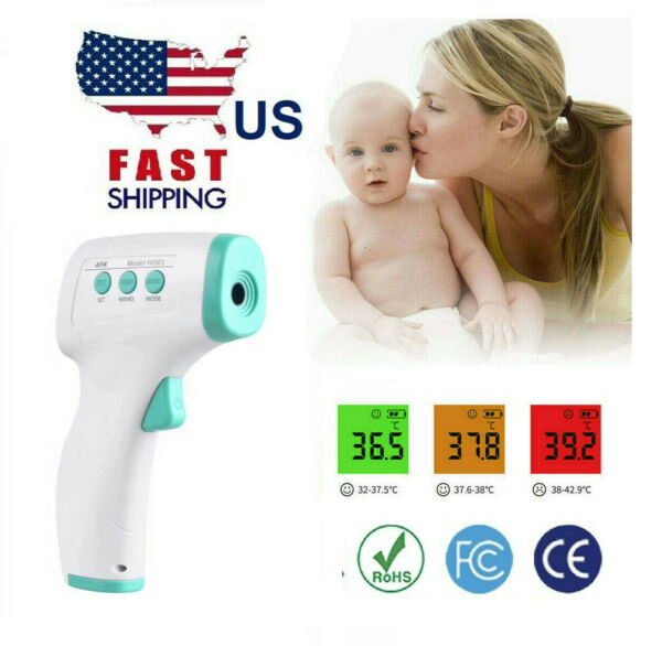Non-Contact Digital IR Infrared Forehead Thermometer Gun AdultBaby Fahrenheit