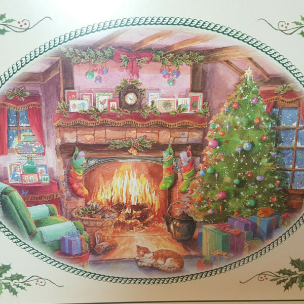 Pimpernel Placemats Christmas Cork Backed Fireplace Stockings Christmas Tree (4)