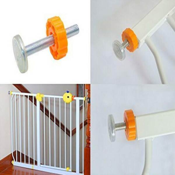 4PCS Safety Baby Stairs Gate Screws Bolt with Locking Nut Spare Part Home G