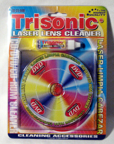 Laser Lens Cleaner New Game Player Xbox Cd-Rom Dvd Ps2 Cleaning Liquid Included
