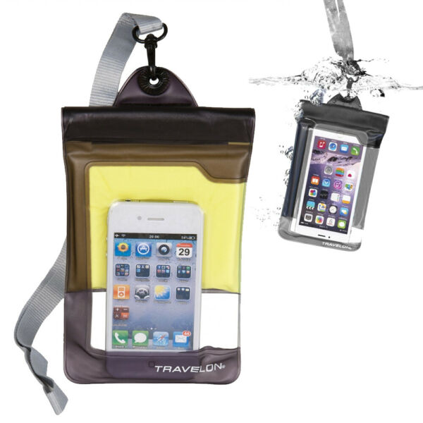 Travelon Waterproof Floating Pouch Bag Cell Phone Safe Case Cover Outdoor Sports
