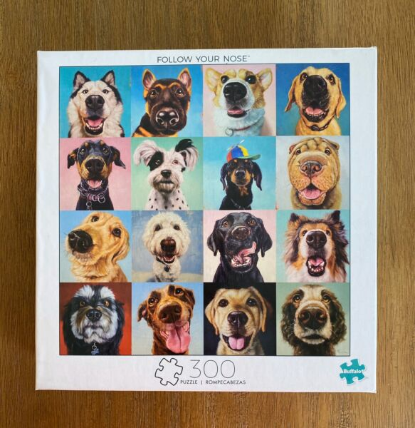 NEW Funny Dogs Puppies Follow Your Nose 300 Large Piece Puzzle By Buffalo Game $15.00