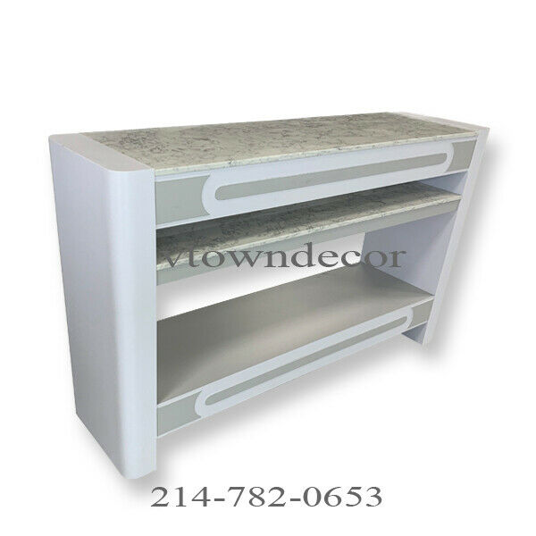 Nail Dryer Table Station Manicure Pedicure Salon Furniture GREY Rectangle