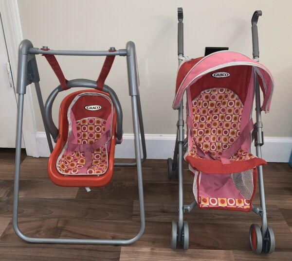 Vintage Tollytots Graco Baby Doll Toy Carrier Swing And Stroller Combo *READ $75.00