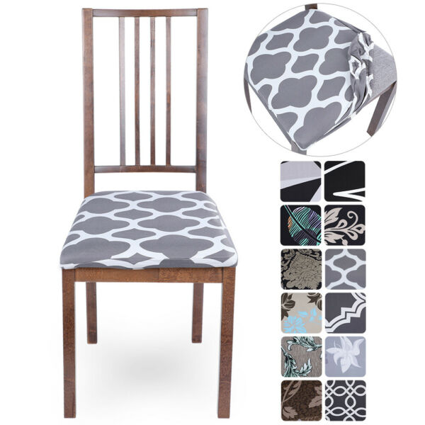 1 2 4 6 Pcs Removable Elastic Stretch Slipcovers Dining Spandex Chair Seat Cover $7.59
