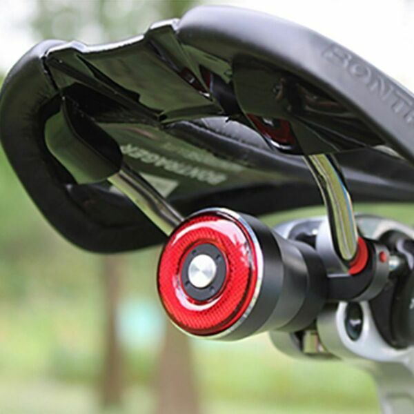 Bike Smart Tail Light Q5 Bicycle Brake Sensing Flashlight Stop Rear USB Charge $39.99