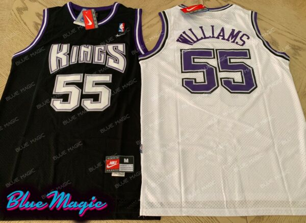 New Jason Williams Throwback Swingman Jersey #55 Sacramento Kings Home