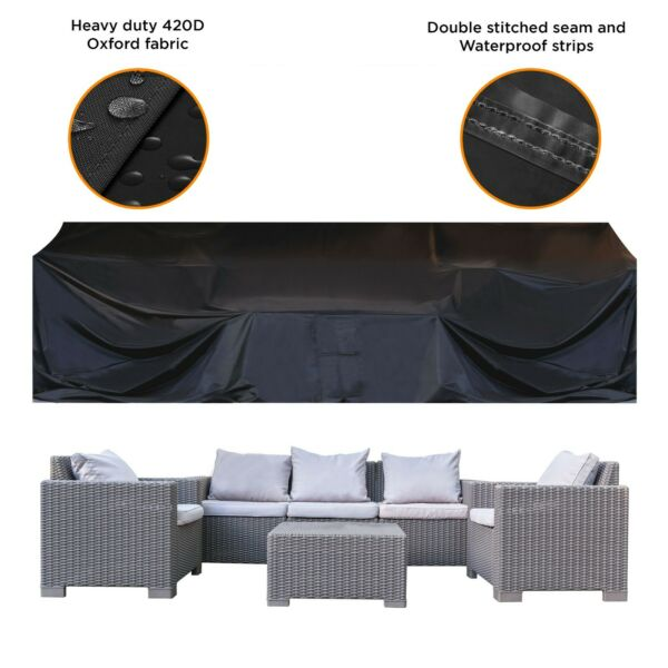 Patio Furniture Cover Outdoor sectional Furniture Covers Waterproof Dust Proof