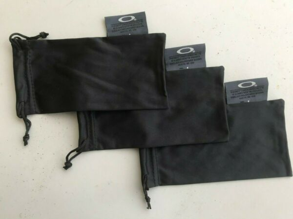 OAKLEY 3 PACK MICRO FIBER SOFT CLOTH SUNGLASSES CLEANING STORAGE BAGS $11.99