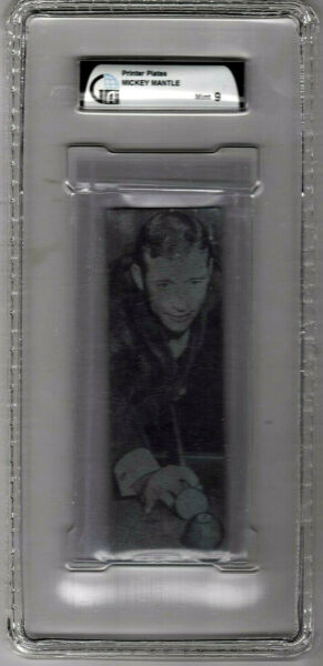 MICKEY MANTLE  *  ONE OF ONE  *  NEWSPAPER PRINTERS PLATES BY CORBIN  GAI MINT 9