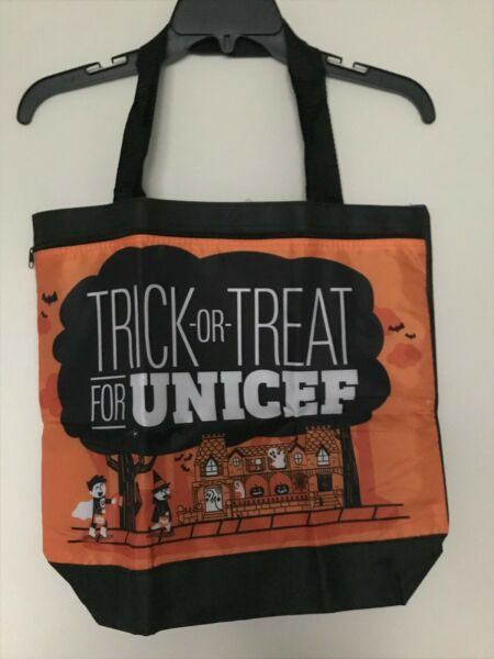 2019 Trick or Treat for UNICEF Halloween Spooky Haunted House Tote Reusable Bag