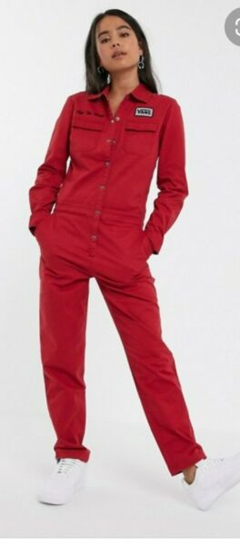 Vans Womens Oil Change Boiler Suit Jumpsuit in Red *SIZE X SMALL* New with tags GBP 85.00