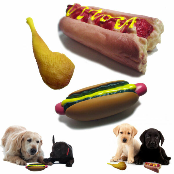 3 Pack Dog Squeaky Toy Pet Funny Puppy Chew Squeaker Play Sound Bite Rubber Toys $10.46