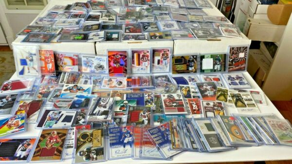 (25) SUPER Football Hot Pack Card Lot! AUTO Jersey PATCH RC Prizm