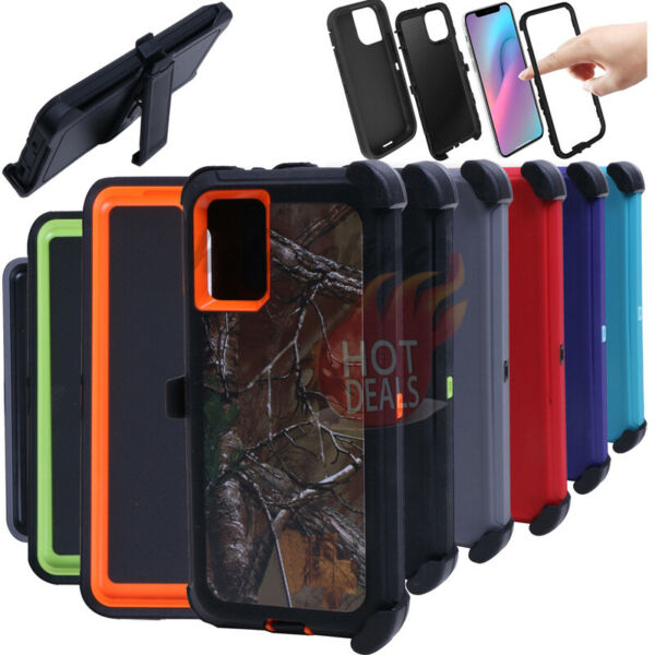 For iPhone 11 11 Pro 11 Pro Max Defender Case Camo with Clip Fits OtterBox