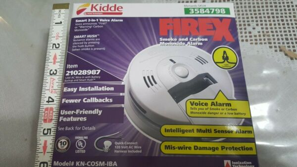 Smoke Carbon detector SMART 2 IN1 VOICE battery plus quick connect 120 volts $25.00