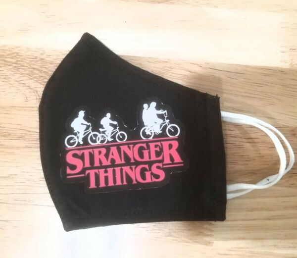 Stranger things Washable Reusable kids 6-12 Face Cover Mask Soft Cotton