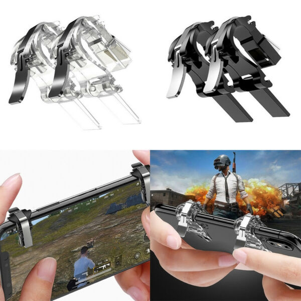 2 *Mobile Phone Gaming Fire Button Trigger Handle Shooter Controller Fits PUBG