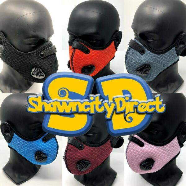 Face Mask With Replaceable Filter With Air Breathe Vents (5 Different Colors)