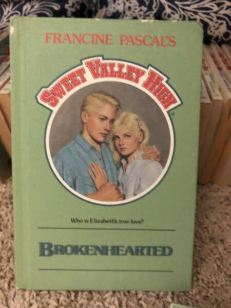 Brokenhearted #58 SWEET VALLEY HIGH Francine Pascal Hard Cover Twins SVH
