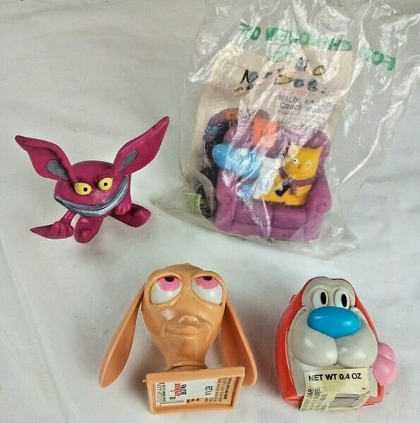 1993 Ren amp; Stimpy Candy ContainersICKIS Real MonstersCat amp; Dog Taco Bell Nacho $17.00