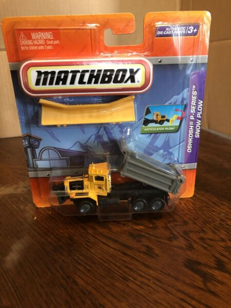 Matchbox Real Working Parts Oshkosh P-Series Snow Plow. 187