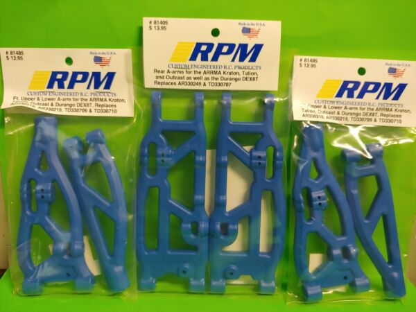 RPM set 81485 81405 Front rear Upper Lower a-Arms Arrma Kraton Talion Outcast