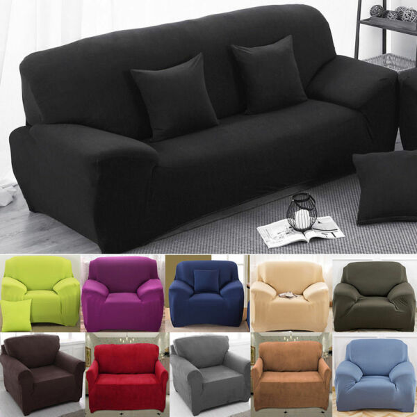 1234 Seaters Universal Stretch Elastic Chair Sofa Cover Slipcovers Protector $19.99