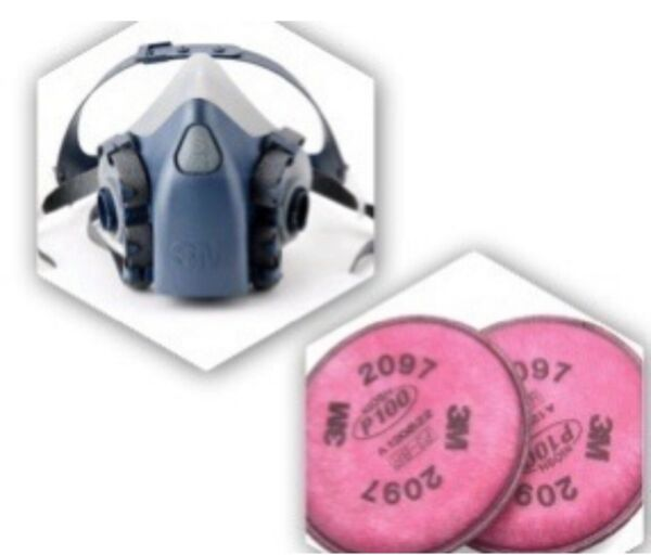 3M 7500 750137081 Series Respirator - Small Sold With 2097 Filters USA Made