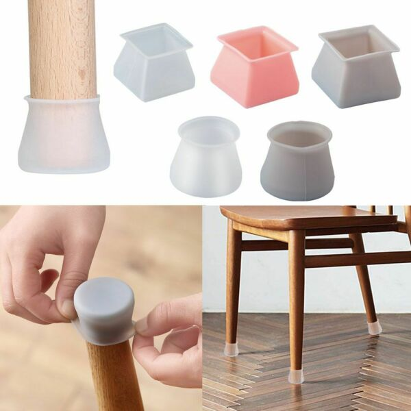 Silicone 4PCS Chair Leg Caps Feet Cover Pads Furniture Table Floor Protectors US