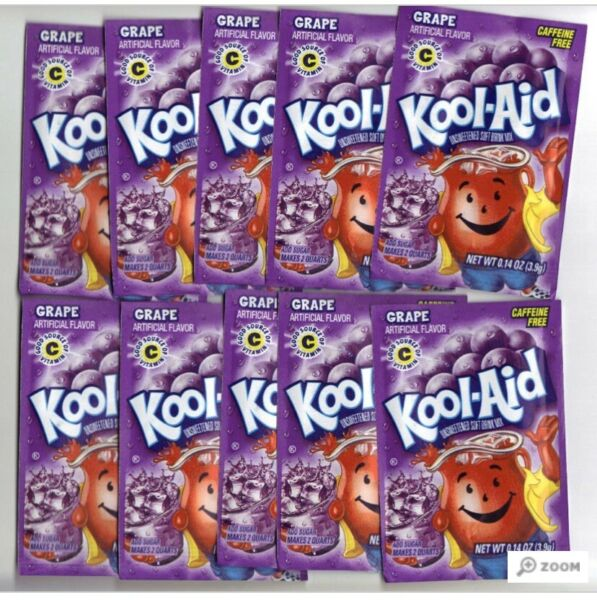 Grape Kool-Aid  Summer Favorite Drink Snow Cone - 10 Packets
