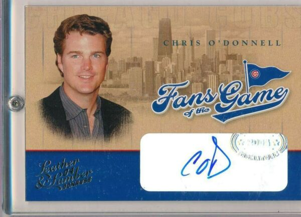 2004 DONRUSS LEATHER & LUMBER CHRIS O'DONNELL FANS OF THE GAME AUTO ACTOR AA027