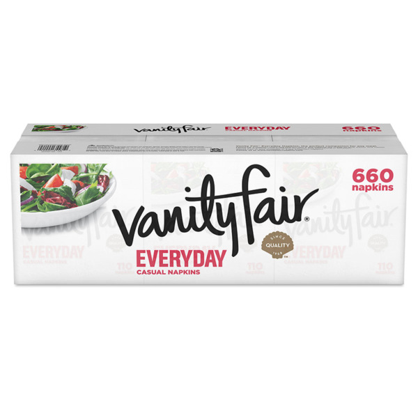 Vanity Fair Everyday Use Disposable White Paper Napkins 2 Ply 660 Count