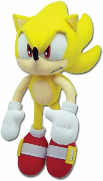 Sonic the Hedgehog SUPER SONIC PLUSH 12-inch Plush NEW AUTHENTIC $19.90