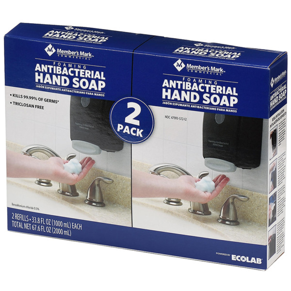 Member#x27;s Mark Commercial Foaming Hand Soap Refills 2 Pack 33.8oz Each