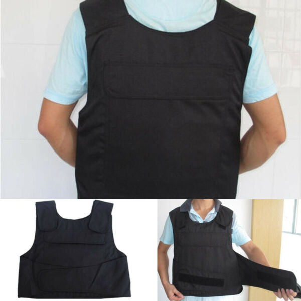 Black Anti-Stab Security protection Vest Men Body Armour Paintball Vest Clothing