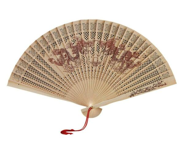 Dragon Wood Fan $10.00