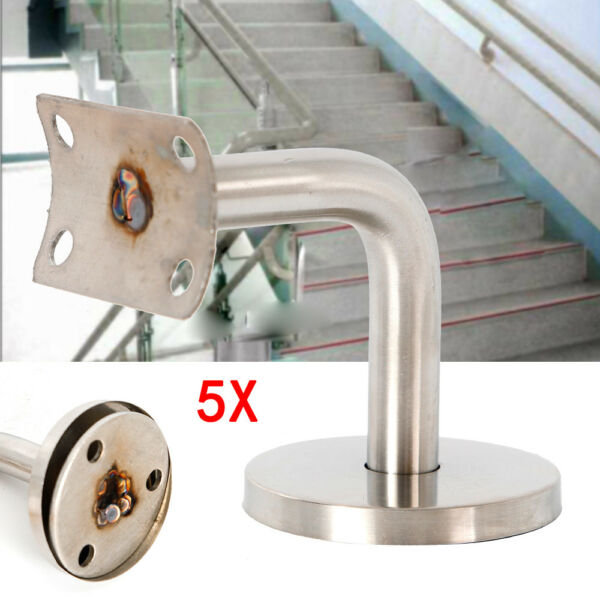 5x Handrail Stairwells Wall Mounting Stainless Steel For BanistersRailing Stair